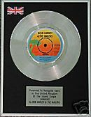 "BOB MARLEY -  7"" Single -  Platinum Disc -  JAMMING"